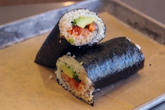 A sushi burrito from Uma Temakeria