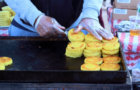 Ramen buns on the griddle