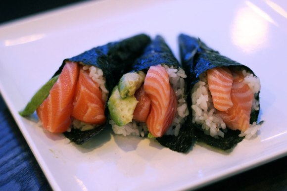 Three hand rolls from Kikoo Sushi