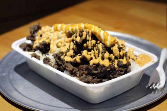 A bulgoli rice bowl from Korilla
