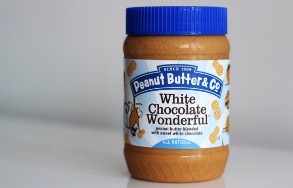 A jar of White Chocolate Wonderful peanut butter