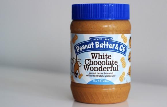 A jar of White Chocolate Wonderful peanut butter