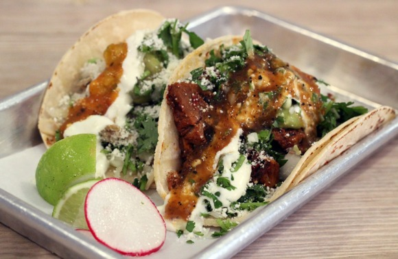 Two tacos— from Taqueria Diana