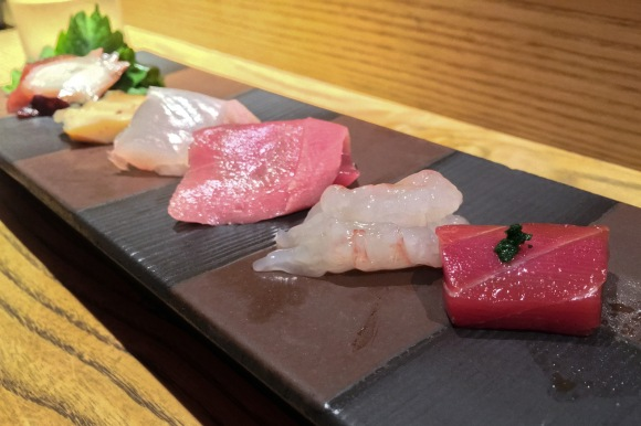 Seasonal sashimi from Sushi Azabu