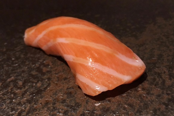 Salmon sushi from Sushi Azabu