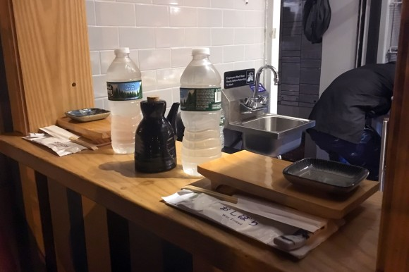 The very small counter at Sushi on Jones
