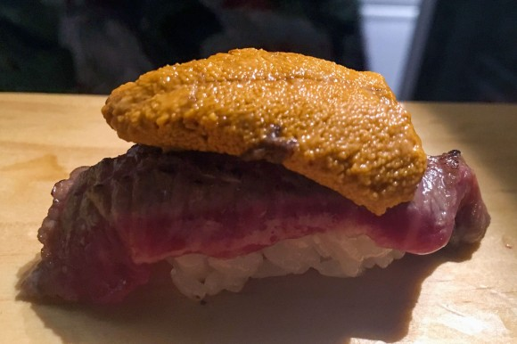 Sushi on Jones's signature WagUni