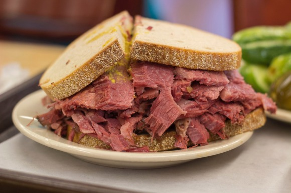 Corned beef on rye from Katz's Delicatessen