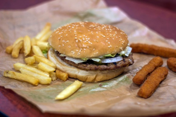 A Whopper with regular fries and Chicken Fries