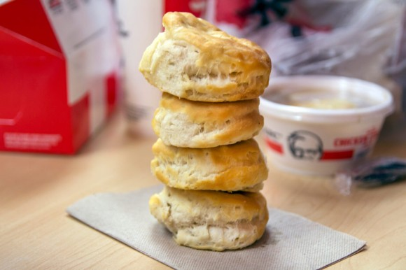 Four biscuits from KFC
