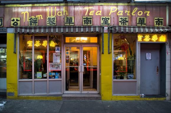 Nom Wah Tea Parlor's storefront