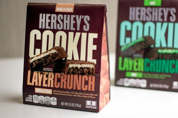 Two bags of Hershey's Cookie Layer Crunch