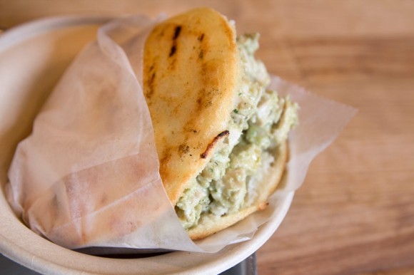 A Reina arepa from White Maize