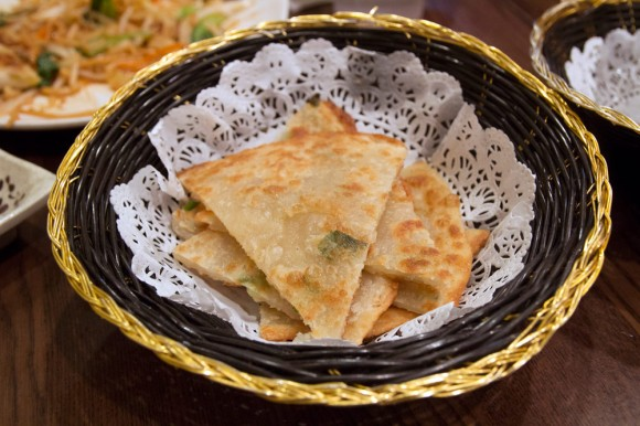 Scallion pancakes from Kung Fu Little Steamed Buns Ramen