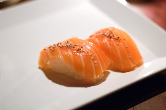 Two pieces of salmon