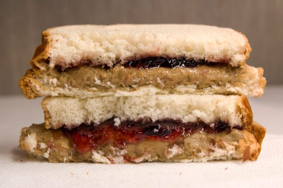 A SunButter-and-jelly sandwich