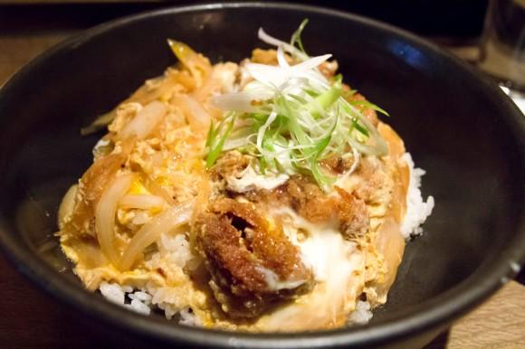 Pork katsu over rice from TsuruTonTan