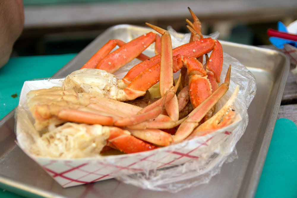 Snow crab legs from LoLo's Seafood Shack
