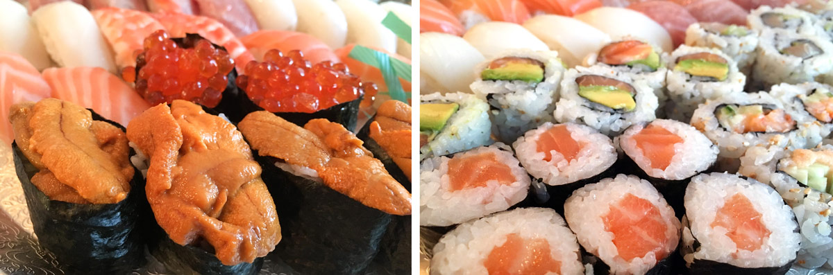 Assorted sushi from Lawrence Fish Market